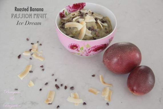 Roasted Banana Passion Fruit Ice Dream