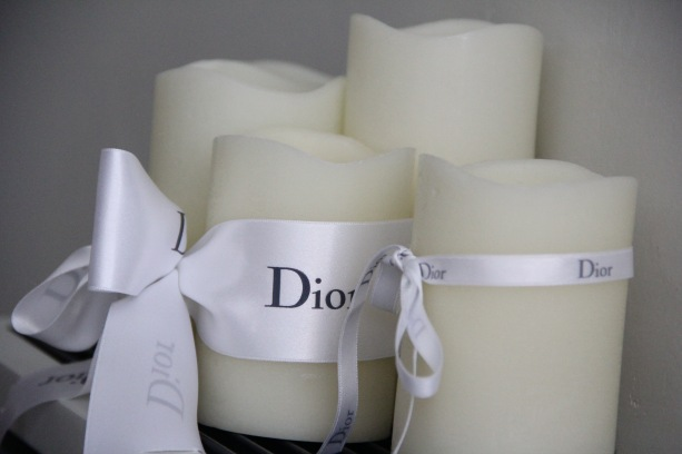 candles decked in dior