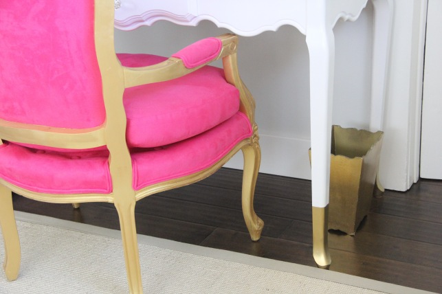 fucsia and gold-dipped legs
